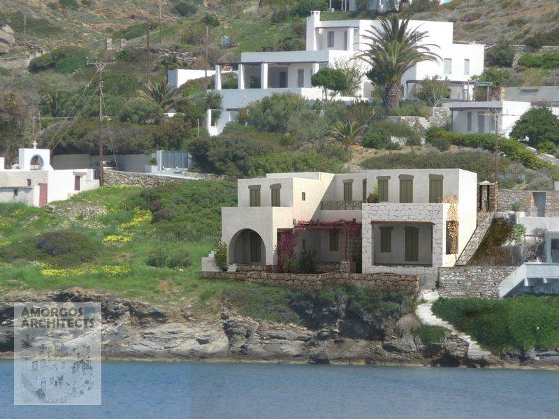 Design, planning and construction of a group of 3 houses (200m2), in Xylokeratidi Amorgos.